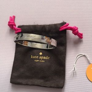 Kate Spade silver bride bangle